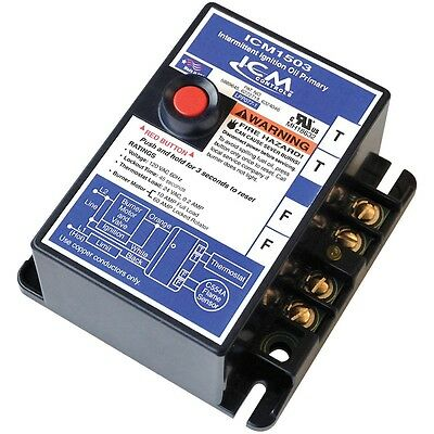 ICM Controls ICM1503 Intermittent Ignition Oil Burner Primary Control 45-Second