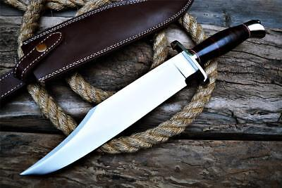 Andre Ronald Custom Handmade MASTER Bowie Knife D2 Full Tang Stacked Leather 16
