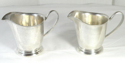 2 Small Silver Plated Cream Pitchers from Arizona Biltmore Resort, Victor S Co.