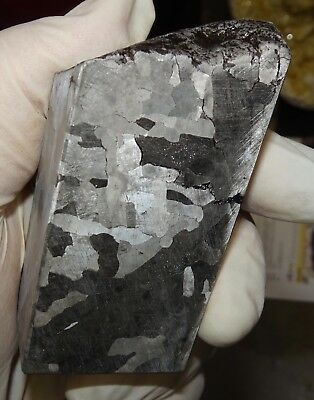 Beautiful 488 Gm. Etched Campo Del Cielo Meteorite Cube