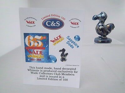 Wade Sapphire Dodo - For 65Th Anniversary Of Whimsies  - Excellent Condition