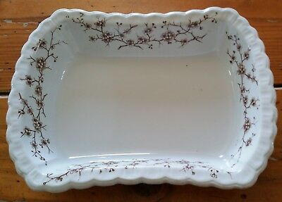 Antique Emery Thorn Aesthetic Brown Transferware Serving Dish