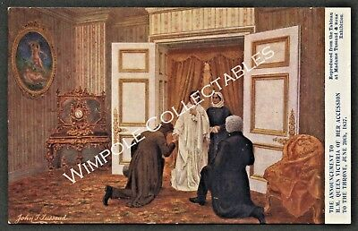 Madame Tussaud, Tableau, Queen Victoria, c1906, Official Postcard. (4606)