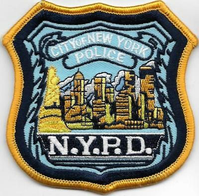 Nyc Police Dept Novelty Skyline Sightseeing Buildings Wtc Pd New York City Patch