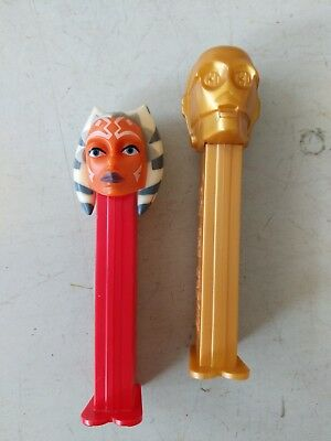 VTG Star Wars C3PO Pez Dispenser 1997 Hungary & Ahsoka Tano 2008