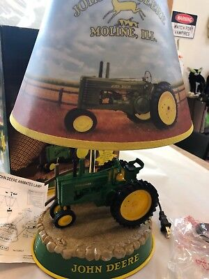 John Deere Tractor Table Lamp Animated Motor Sounds