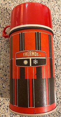 Vintage 1971 King-Seeley Plaid Thermos Bottle No. 2810