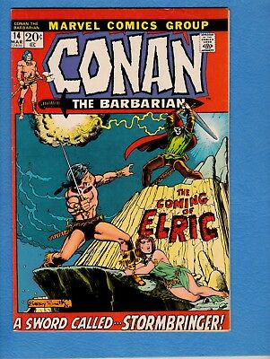 Conan the Barbarian #14,1972, VF 8.0, Barry Smith art,first appearance Elric