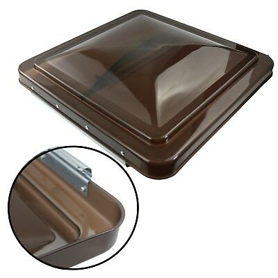 "1 RV Roof Vent Cover Replacement Lid Motorhome Camper RV Trailer Smoked 14"" x14"""