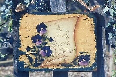 """Jill Ankrom tole painting pattern """"Pansy For Your Thoughts"""""""