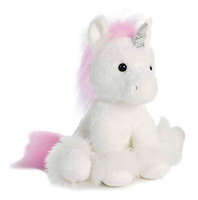 Aurora World Dreaming of You Plush Unicorn, White, Small Soft Stuffed Animal