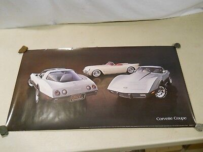 Vintage Chevrolet Corvette Posters, Lot of 3 posters. Still in cardboard roll.