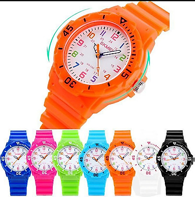 Children Watches  Boys Girls Kids SHOWER PROOF Analogue Sports Wrist Watch