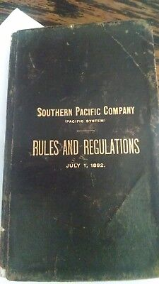 Souther Pacific Co. Rules and Regulations 1892