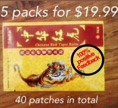 Chinese Tiger Balm Pain Relief Patch 10cmx7cm 40 Patches For Back& Shoulder Neck