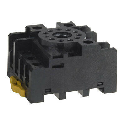 RELAY SOCKET BASE 11 Pin Octal Screw Terminal DIN Panel Mount