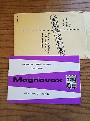 """Magnavox """"Stereo Theater"""" instructions"""