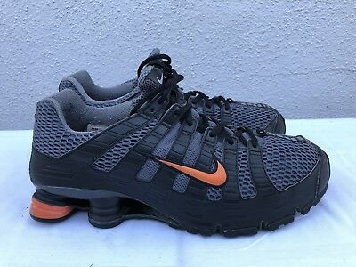 c747f21a02e RARE 2006 Nike Shox Turbo OH + Men s US 11 Black Gray Running Shoes 313827-