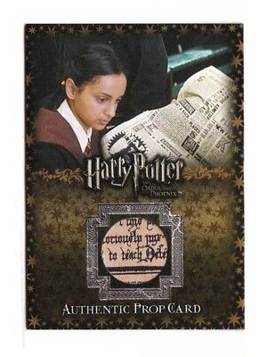 Harry Potter Prop Card The Daily Prophet OOTPH #102/400 P10