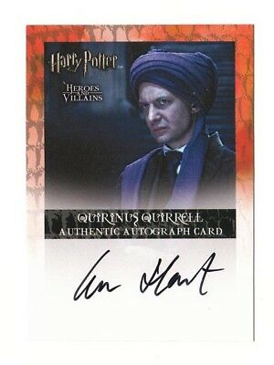 Harry Potter Autograph Card Professor Quirrell Ian Hart Heroes and Villains