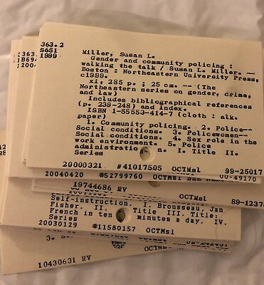 Library Card Catalog Index Cards Grade School Crafting Altered Art 50 Lot