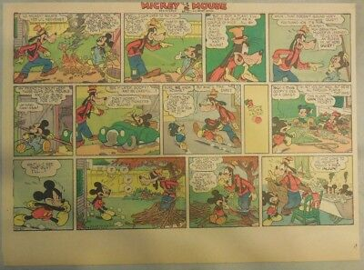 Mickey Mouse Sunday Page by Walt Disney from 10/20/1940 Half Page Size