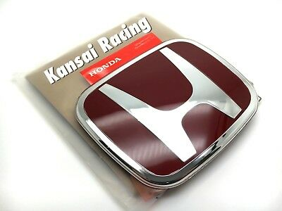 Jdm 1Pcs Kr Red Front / Rear 92Mm X 75Mm Badge Emblem For Accord Crv Civic