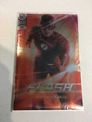 The Flash #55 Dc Comics Foil Variant Cover Nycc 2018 Ex