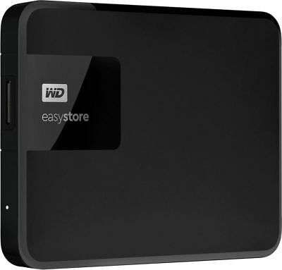 WD EasyStore External USB 3.0 Portable Hard Drive, 4TB, Black full with movies