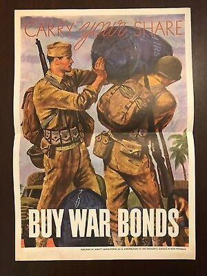 CARRY YOUR SHARE - WW2 Poster - ORIGINAL