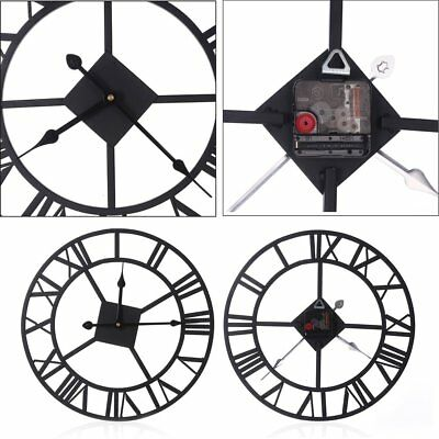 European Style Vintage Wrought-iron Indoor Wall Clock With Roman Numerals#CVX