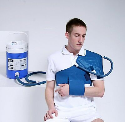 Shoulder Cryo Cuff Compression Cold Therapy,Cooler,Air cast compatible,UK Stock