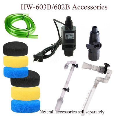 HW-602B/HW-603B Aquarium Filter External Parts Inlet Outlet Tube Water Pump