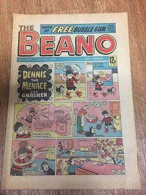 Beano Comic No 2188 June 23rd 1984, Vintage UK Dennis the Menace FREE UK POSTAGE