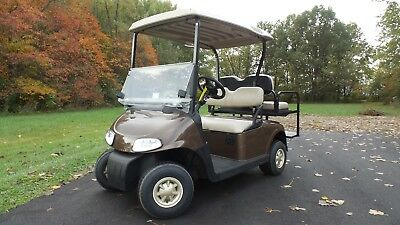 2015 EZGO RXV Golf Cart with rear flip seat and front and rear lights