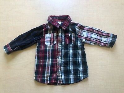 Baby Gap Boys Infant Cotton Plaid  Long Sleeves  Shirt  Size 18-24 months