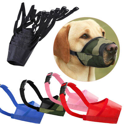 Dog Muzzle Anti Stop Bite Bark Chewing Mask Adjustable Pet Mouth Control Tool