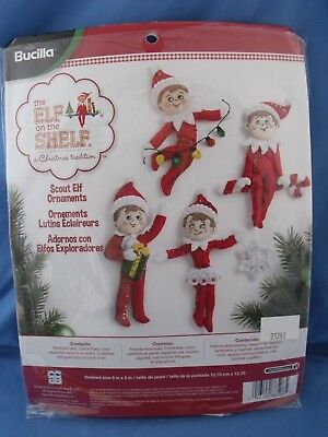 Bucilla Elf on the Shelf – Scout Elf Christmas Ornaments Kit # HD86506