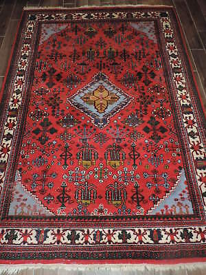 7x9ft. Handwoven Persian Design Middle Eastern Wool Rug
