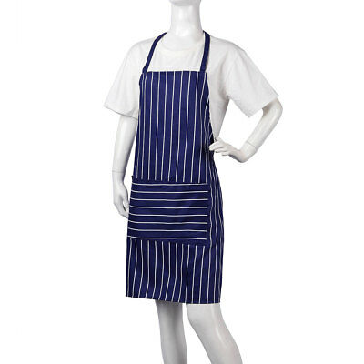 Apron Catering Butcher Kitchen Cooking BBQ Craft Baking Chefs Pure Cotton Navy