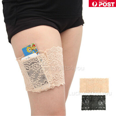 Women Lace Elastic Socks Non Slip Anti-Chafing Thigh Bands Prevent Leg Warmers