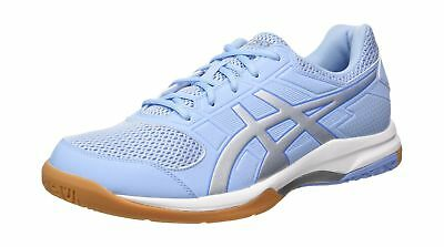 Asics Women''s Gel-Rocket 8 Volleyball Shoes Blue (Airy Blue/Silver/White 3993)