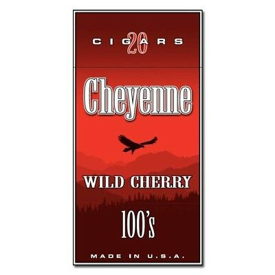 Cheyenne Wild Cherry Filtered Little Cigars New Sealed Pack Of 20 Cigars