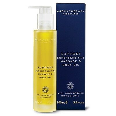 1 PC Aromatherapy Associates Support Supersensitive Massage Body Oil 100ml#6480