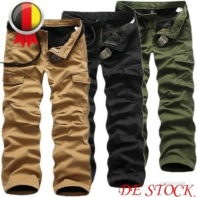 Herren Thermohose Cargohose Fleecefutter Winter Fleece Warme Gefüttert Army Hose