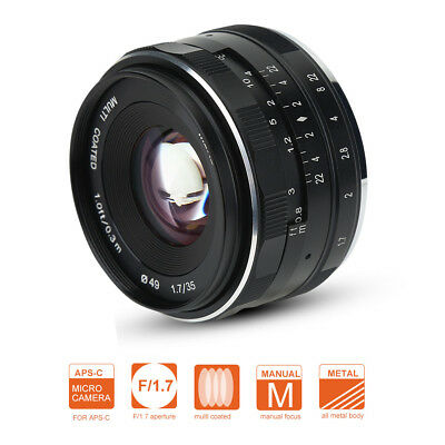 Meike 35mm F1.7 Manual Focus Lens for Mirrorless Sony Camera E-Mounts UK Stock