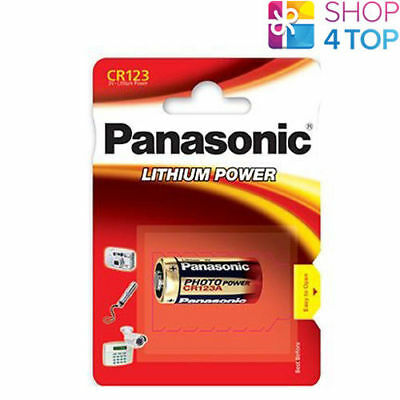 1 PANASONIC LITHIUM POWER CR123 BATTERY 3V 1400 mAh DL123A 123A EXP 2028 NEW