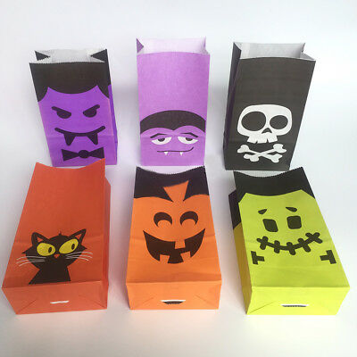 Halloween Candy Paper Bags For Sweet Flavour Buffet Wedding Cake Gift Shop