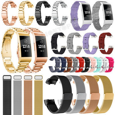 Fr Fitbit Charge 3 Various Luxe Band Replacement Wristband Watch Strap Bracelet