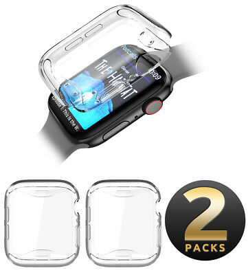For Apple Watch Series 4 40/44mm Case, SUPCASE 2 Pack TPU Cover Screen Protector